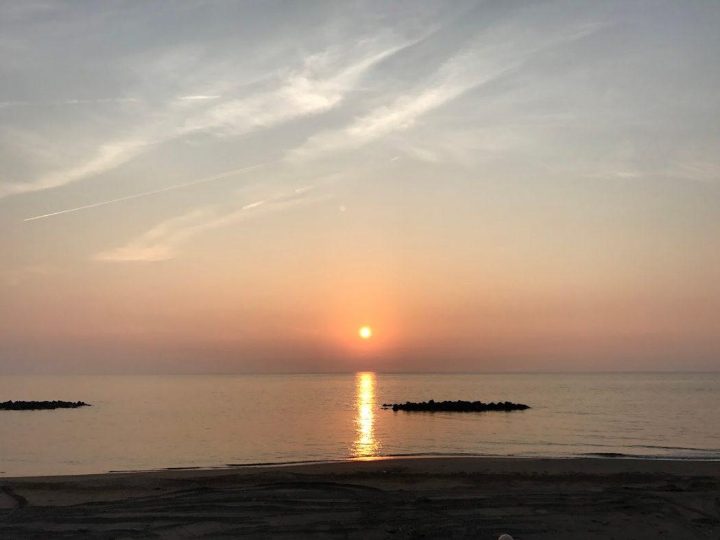 新潟観光大使。12『出雲崎、天領の里の夕日。』