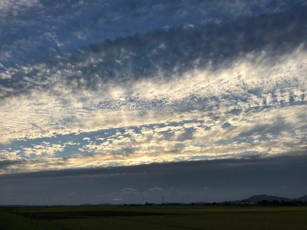 いなか日記。40『秋の夕日雲。』