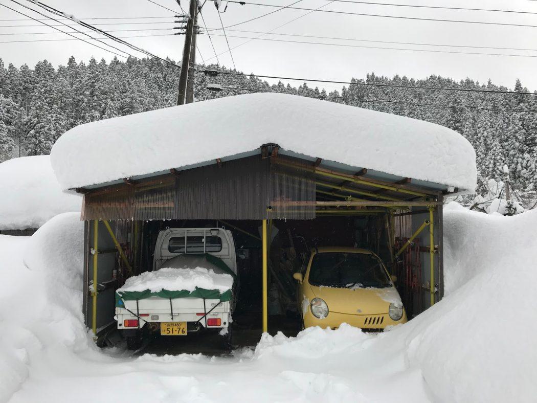 いなか日記。72『大雪の2018年。我が家の雪風景。』