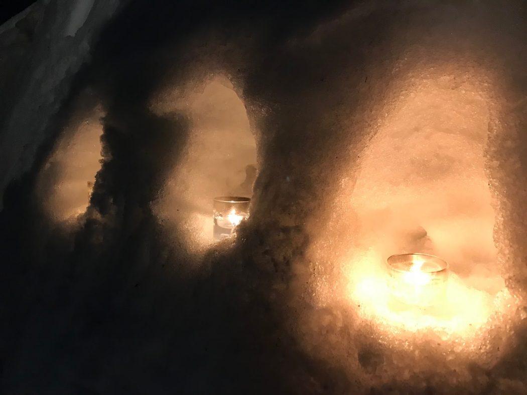 いなか日記。73『男の雪遊び!カマクラに焚き火に♪』