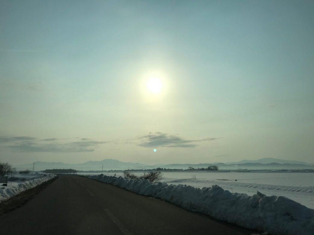 いなか日記。76『通勤路の景色は冬から春へ。』