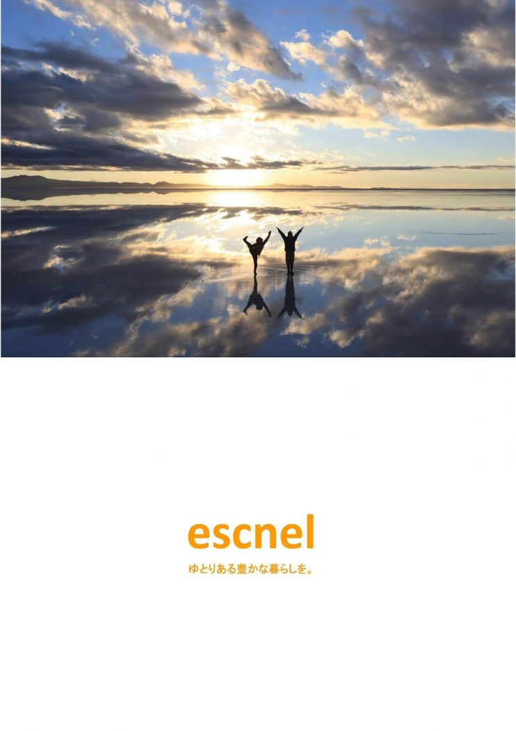エスネルデザインのリーフレットと『サトウ工務店さん見学会開催!』