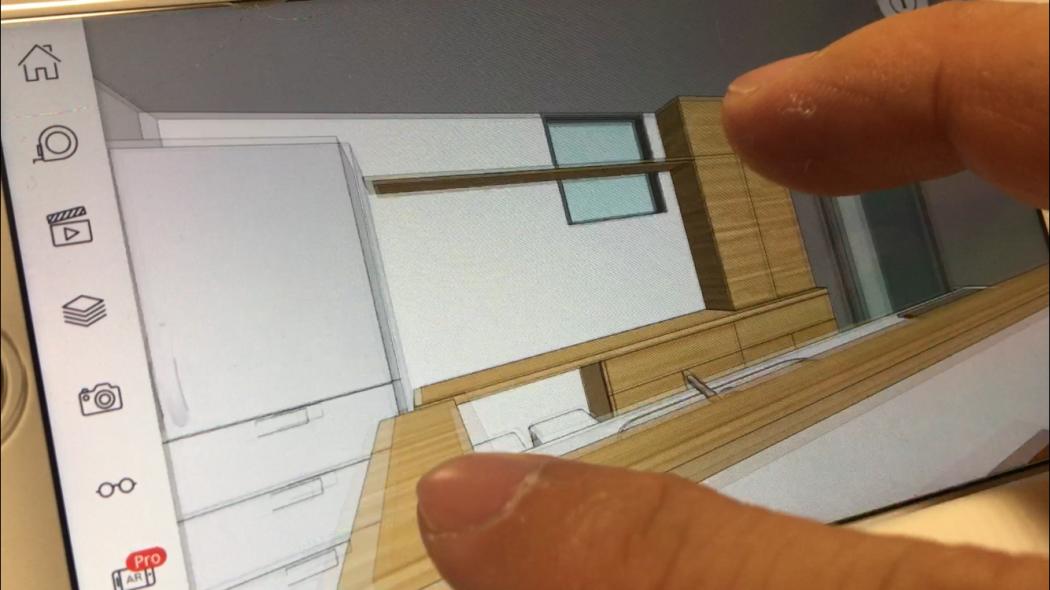 作った3Dパースがスマホで見れる!?自分で動かせる!