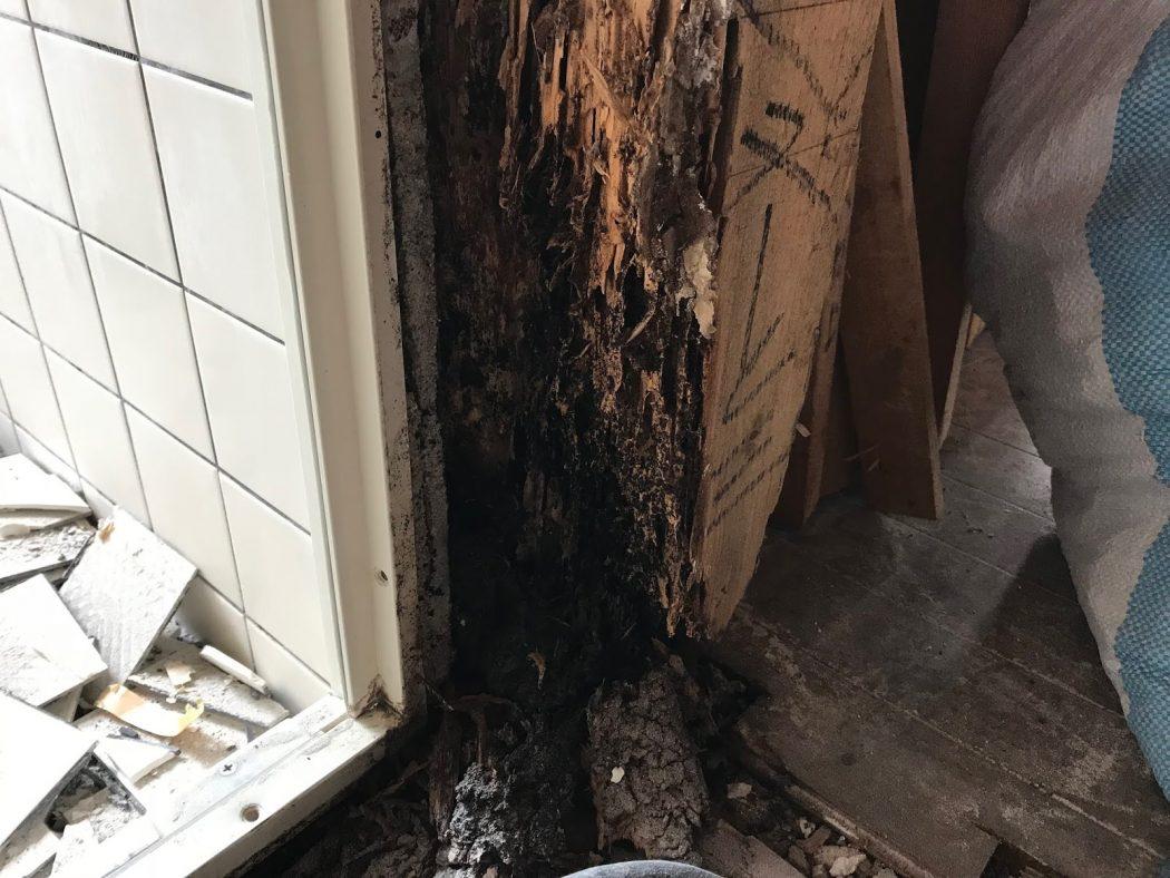 S邸リノベーション。23「解体②浴室の柱の腐り・筋交いの欠損!」