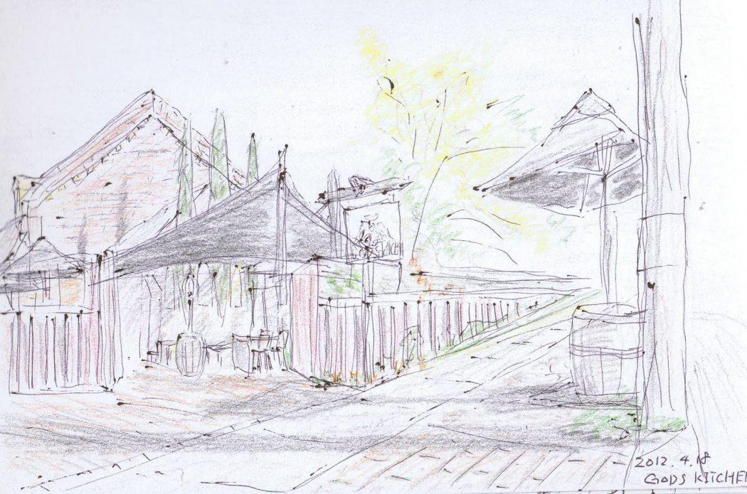 【WJD-sketch01】メルボルンのGODS KITCHEN