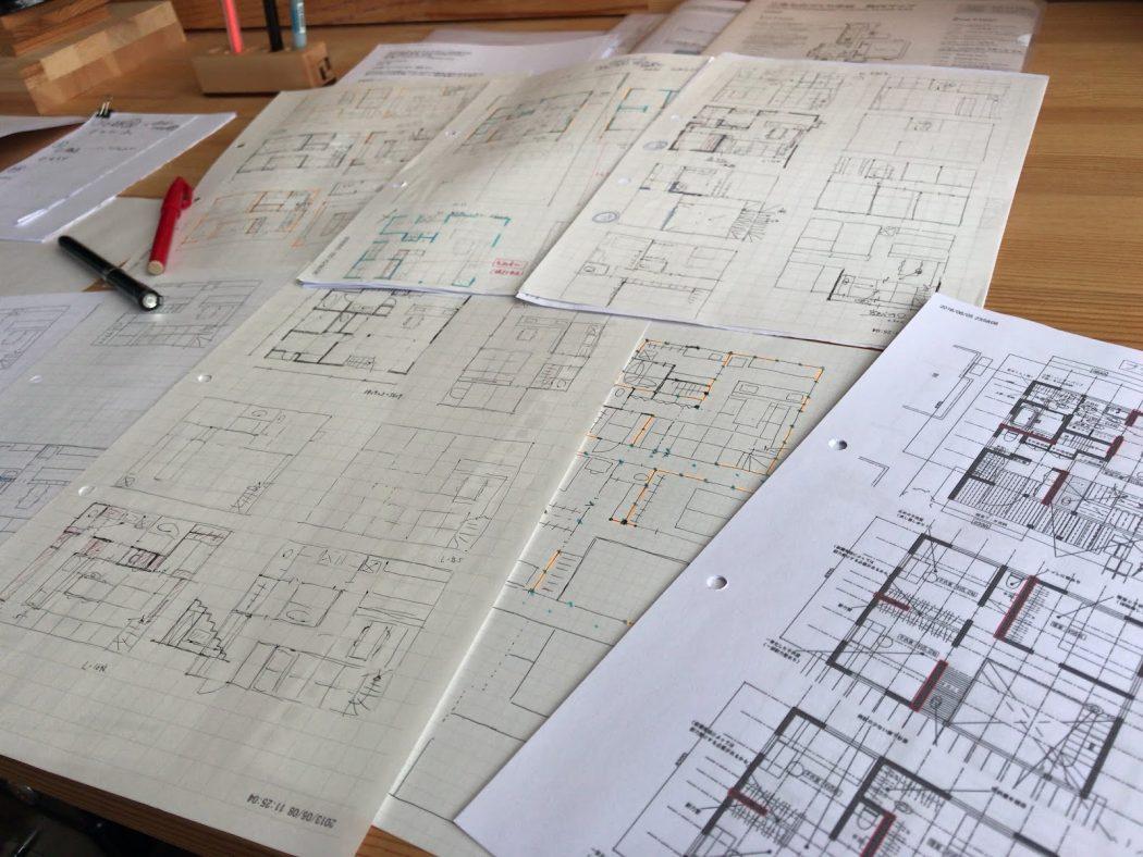設計事務所の仕事『ラフプラン検討。』間取りと構造。