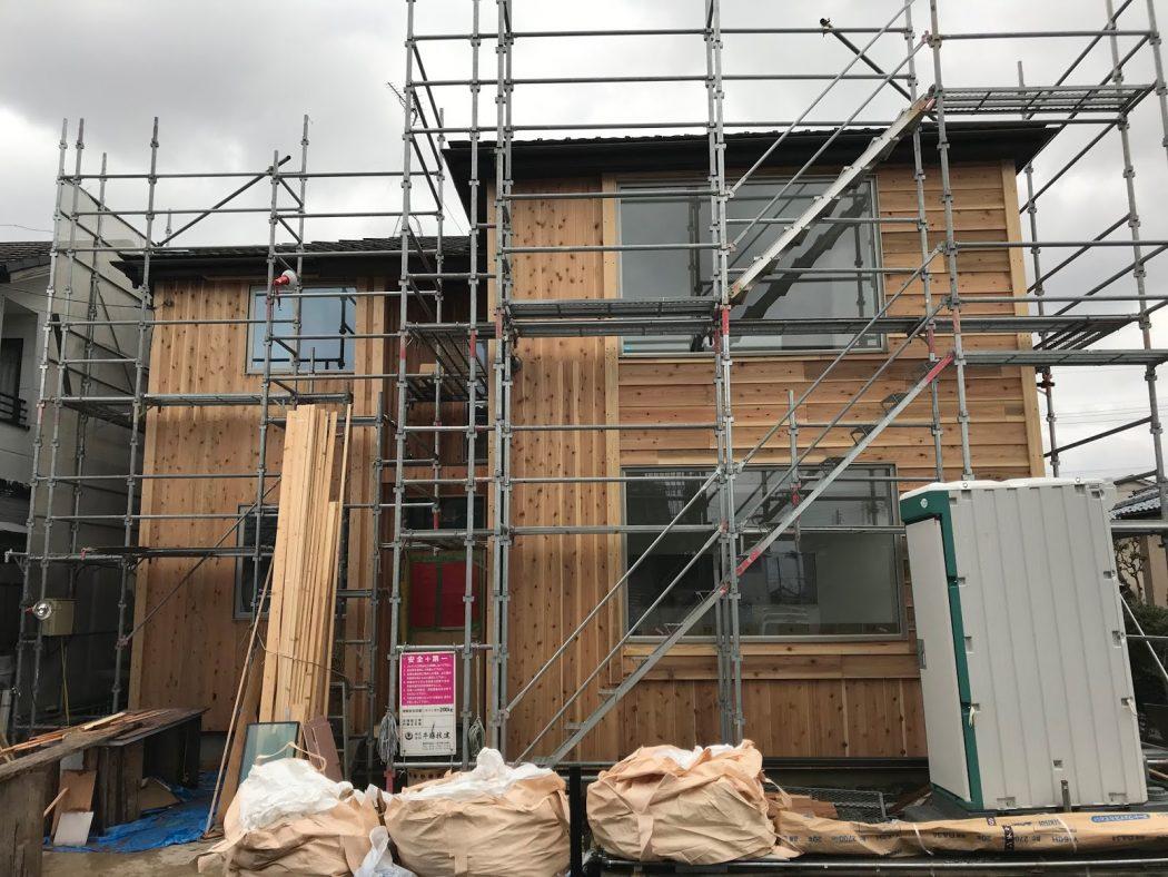 S邸リノベーション。33「外壁板張り完了&内装クロス仕上げ!」