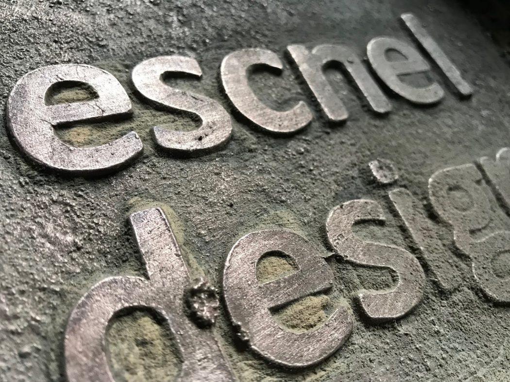 escnel design表札プロジェクト vol.5【鋳型ばらし】-原惣右エ門工房-