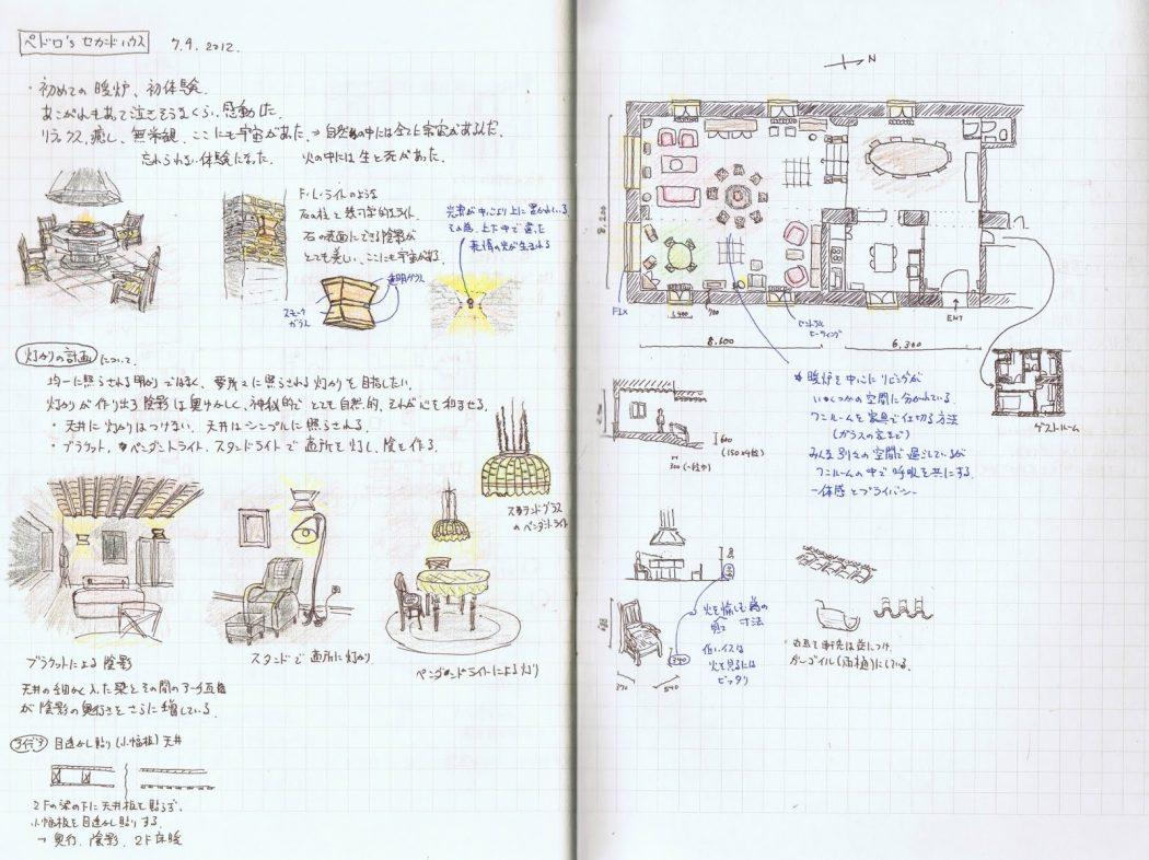 【WJD-建築スケッチ02】スイス・スペイン編「コルビュジエとスペイン建築たち」