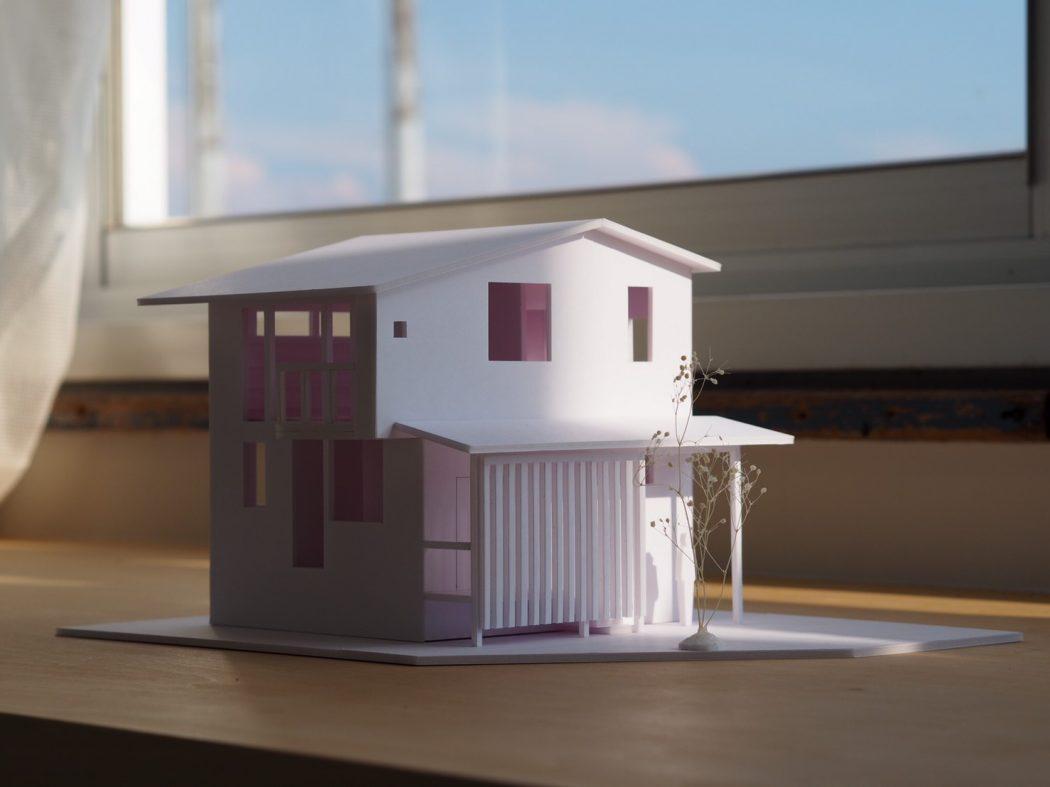 【荻曽根のエスネル‐07】建築モケイ完成。「製作風景とモケイを作る意味。」