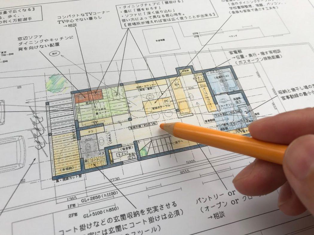 【ZZのエスネル-04】初回プラン提案①「2階リビングと1階リビング。」敷地環境の活かし方。