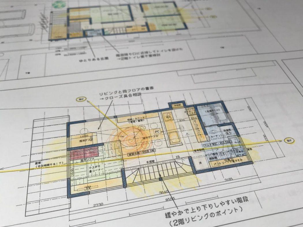 【ZZのエスネル-05】初回プラン提案②「2階リビングと1階リビング。」プロセスを大切にする家づくり。