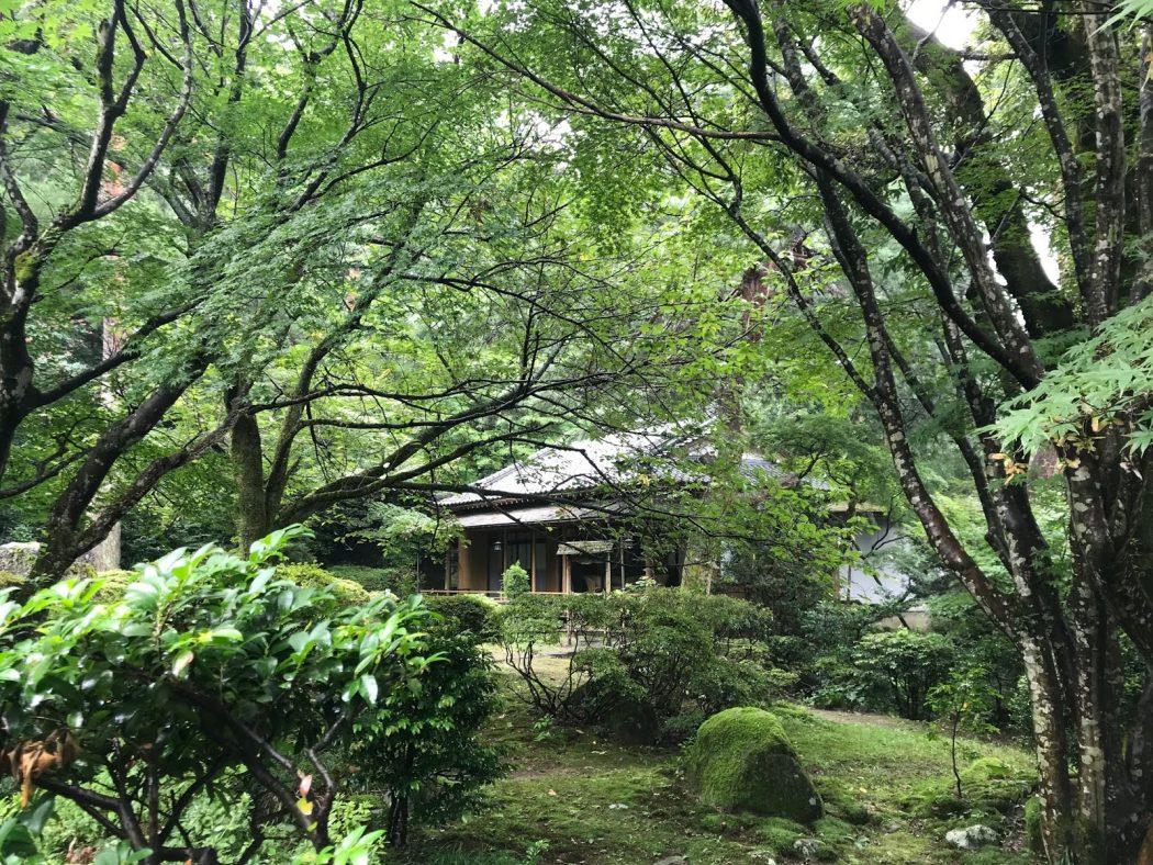 新潟観光大使。86『村杉温泉「長生館」さんのお庭。』侘び寂びの趣き、安田瓦。