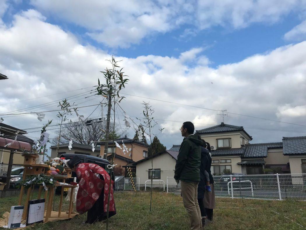 【荻曽根のエスネル‐12】大安吉日の地鎮祭。「家族の思い出を」