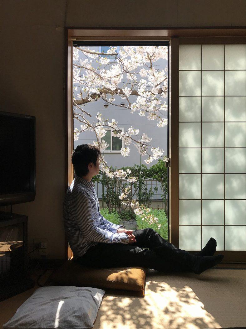 いなか日記。135『桜窓辺の居心地、押入れ・床下のワクワク感♪』