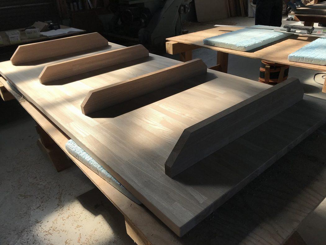 【荻曽根のエスネル‐15】大工製作の『ラックDテーブル』。製作過程の紹介。