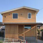 【荻曽根のエスネル完成】2階リビングの超高断熱の小さな木の家。