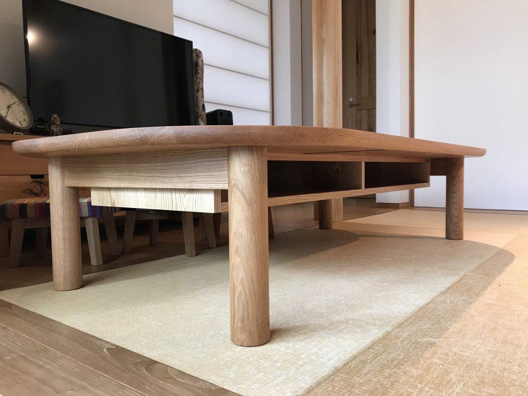【中野のエスネル-07】『ラックDテーブル(座卓)』完成。家具屋nineさんとのコラボレーション♪