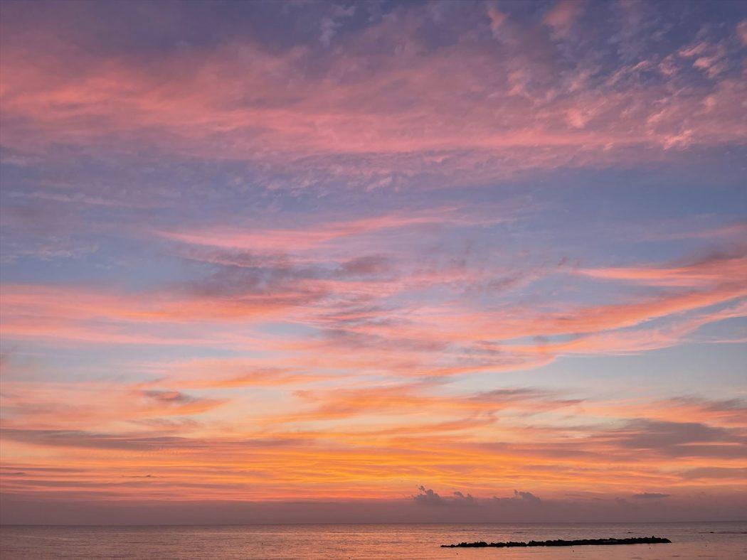 【Photo】7月末の夕日。『燃える空と夕日ウユニ。』